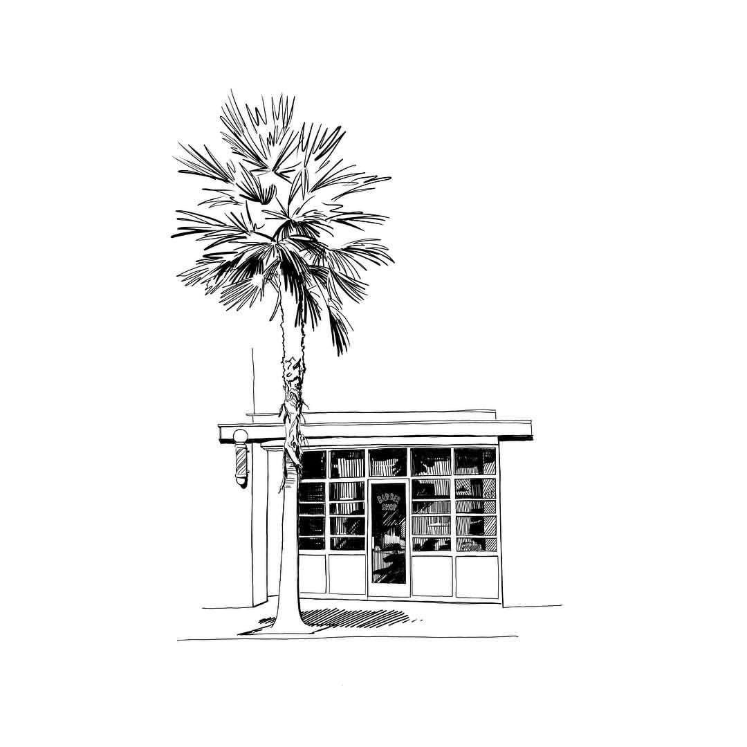 No 1071 barber shop 💈 1011drawings mister vi