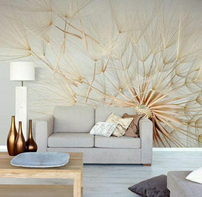 Stilvolle Wandekoration Als Fototapete In Silber Und Gold Moderne
