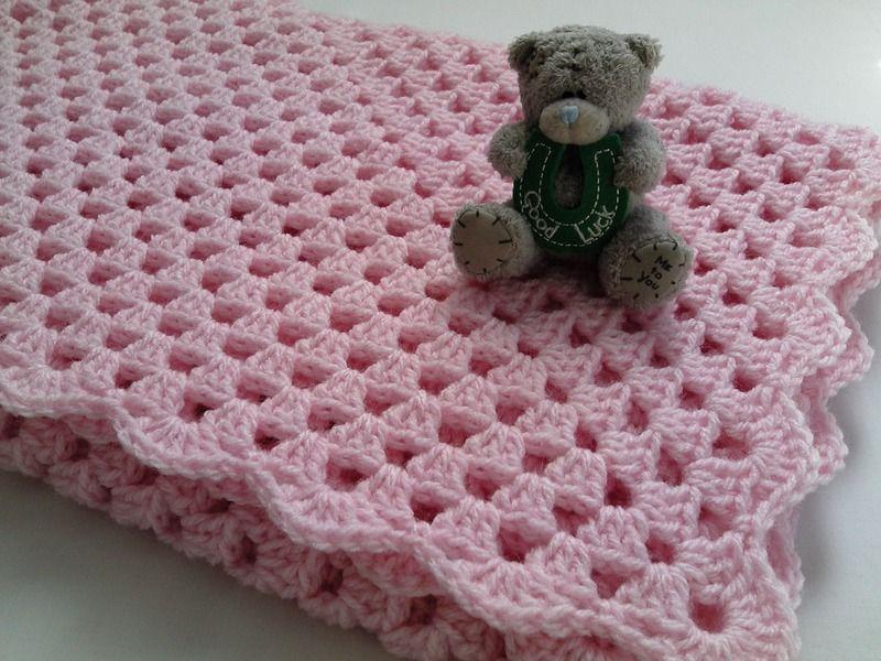 Couverture de bébé au crochet 90cm x 90cm de Tatjana\'s Boutique sur ...