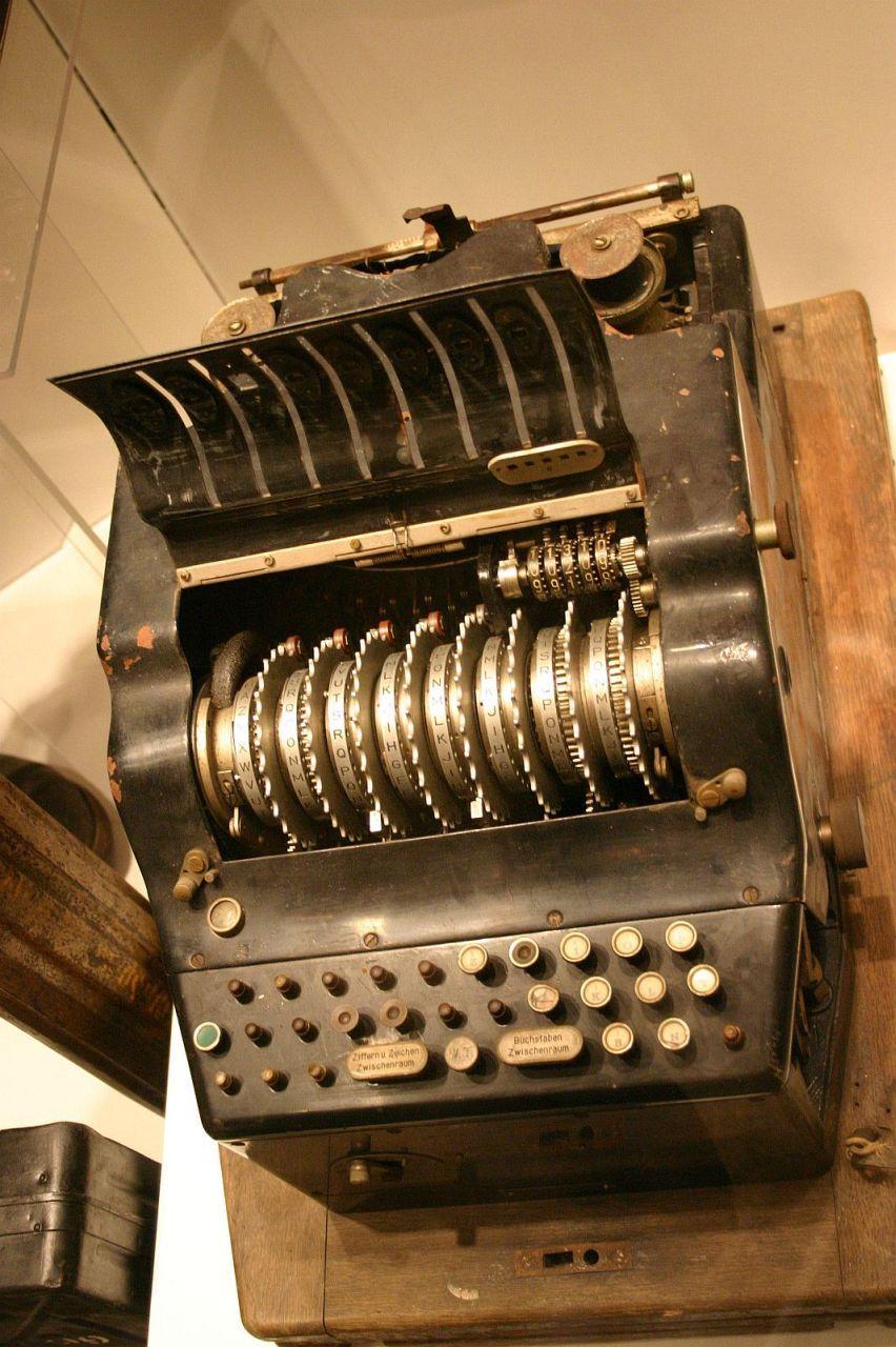 A rare 8rotor printing enigma machine german military