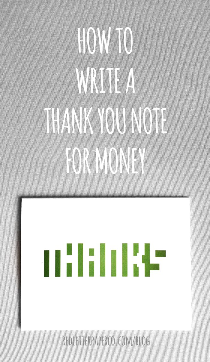 How To Write A Thank You Note For Money  Note College And Grad