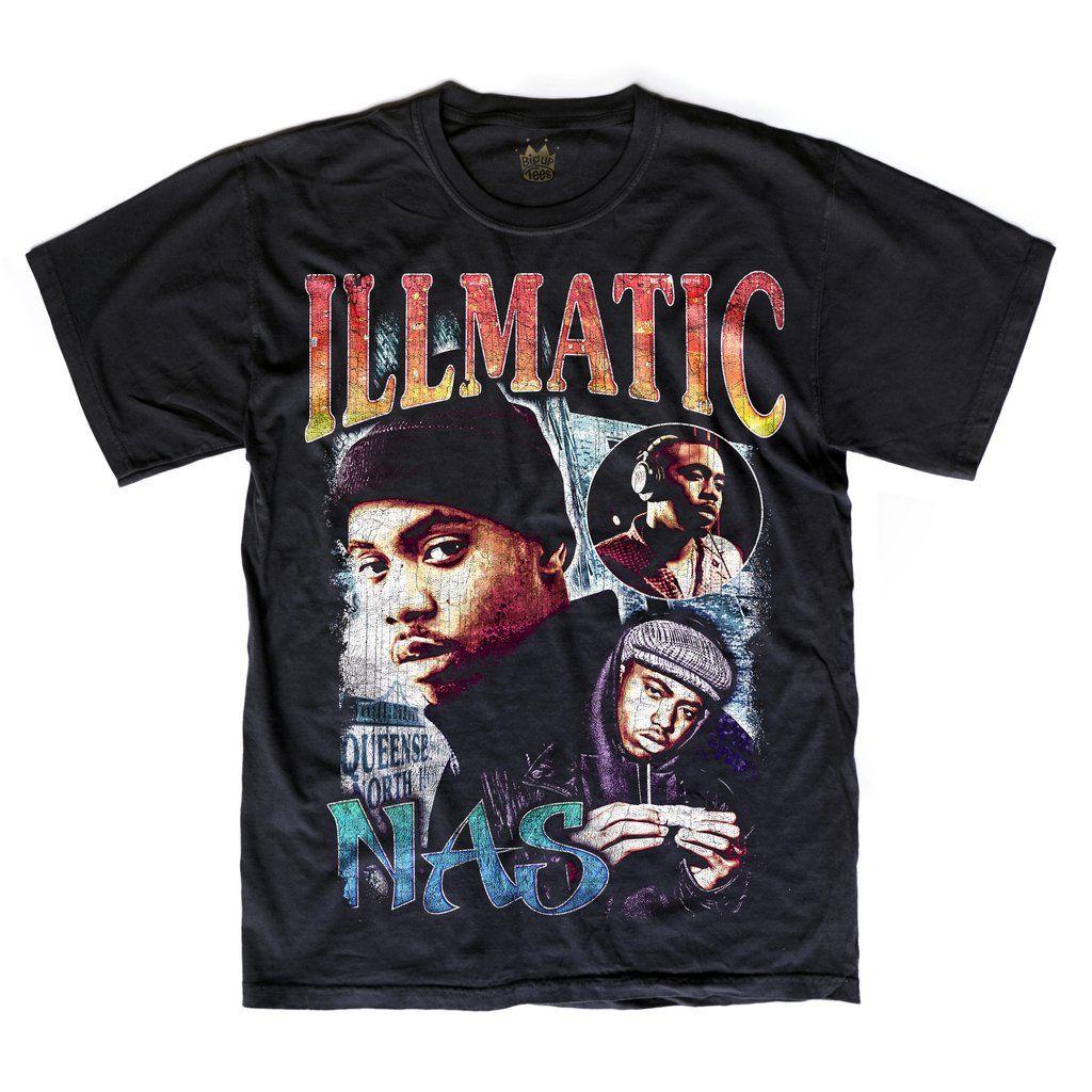 Nas illmatic tshirt vintage rap t shirts rap shirt