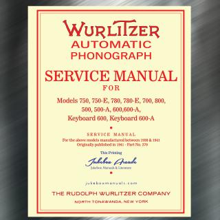 Printed Jukebox Manuals - Jukebox Arcade Wurlitzer 500, 500