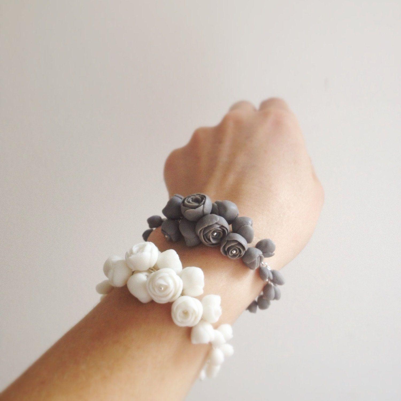 White & Grey part. ?    #white #gray #grey #handmade #handmadewithlove #jewelryforsale #style #autumn #bracelet #bride #bridal #ceramics #ceramic #creativity #celebration #flowers #jewelry   #porcelain  #wedding #inspiration