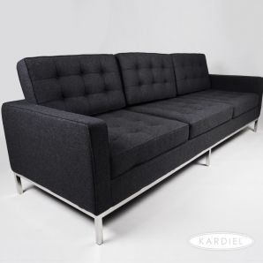 Florence 89 Fabric Sofa Charcoal With Images Florence Knoll