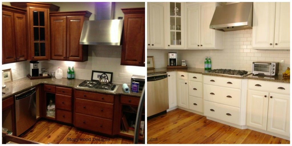 Beautiful Storywood Designs ASCP Chalk Paint Kitchen Cabinets Before And After