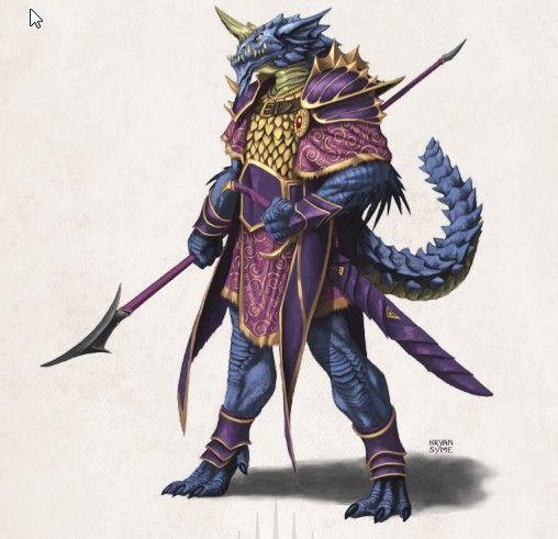 D&D 5e Blue Dragonborn Draconian | D&D: Raging Tides ...