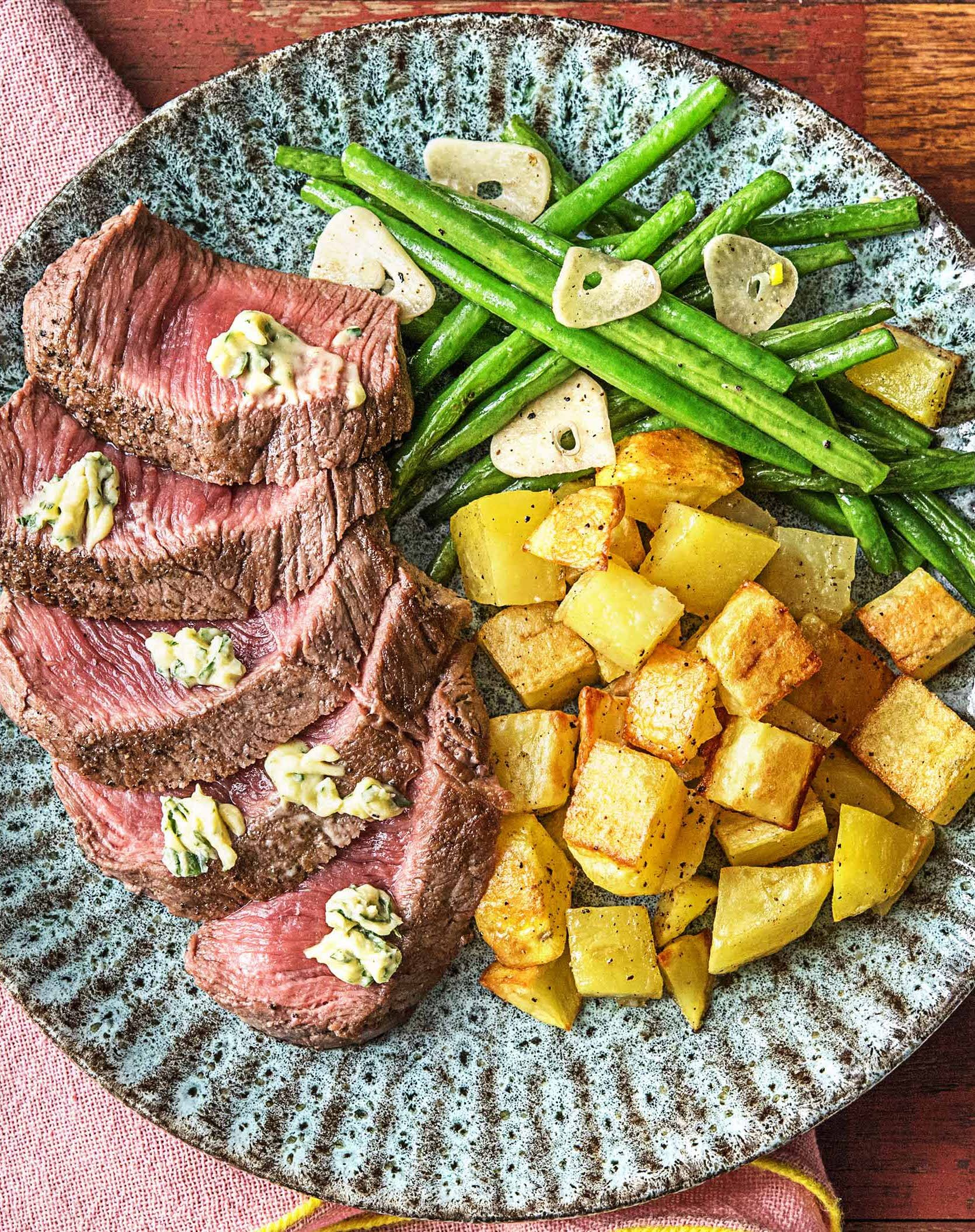 Easy Steak Recipe With Mustard Herb Butter More Beef Meals On Hellofresh Com Hello Fresh Recipes Easy Pasta Recipes Recipes