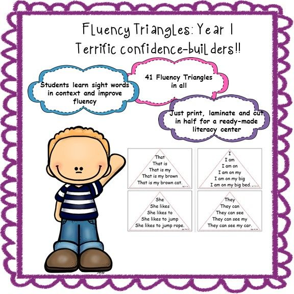 Fluency Triangles : Year 1 Edition --- This Is A Set Of