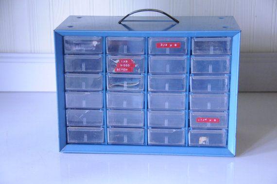 Vintage Parts Drawers Akro Mils Industrial Parts Bins Metal Storage Drawers