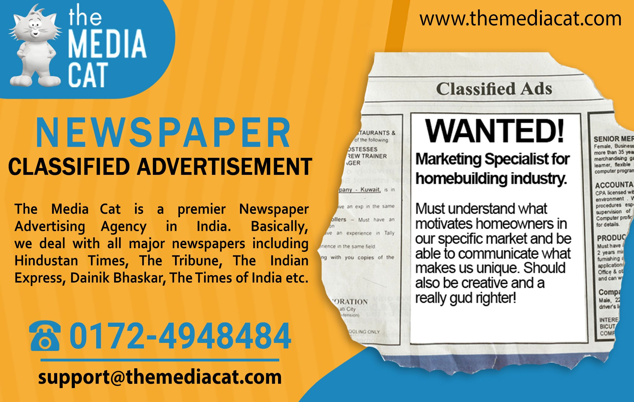 Instantly Book Classified Ads in all Indian newspapers
