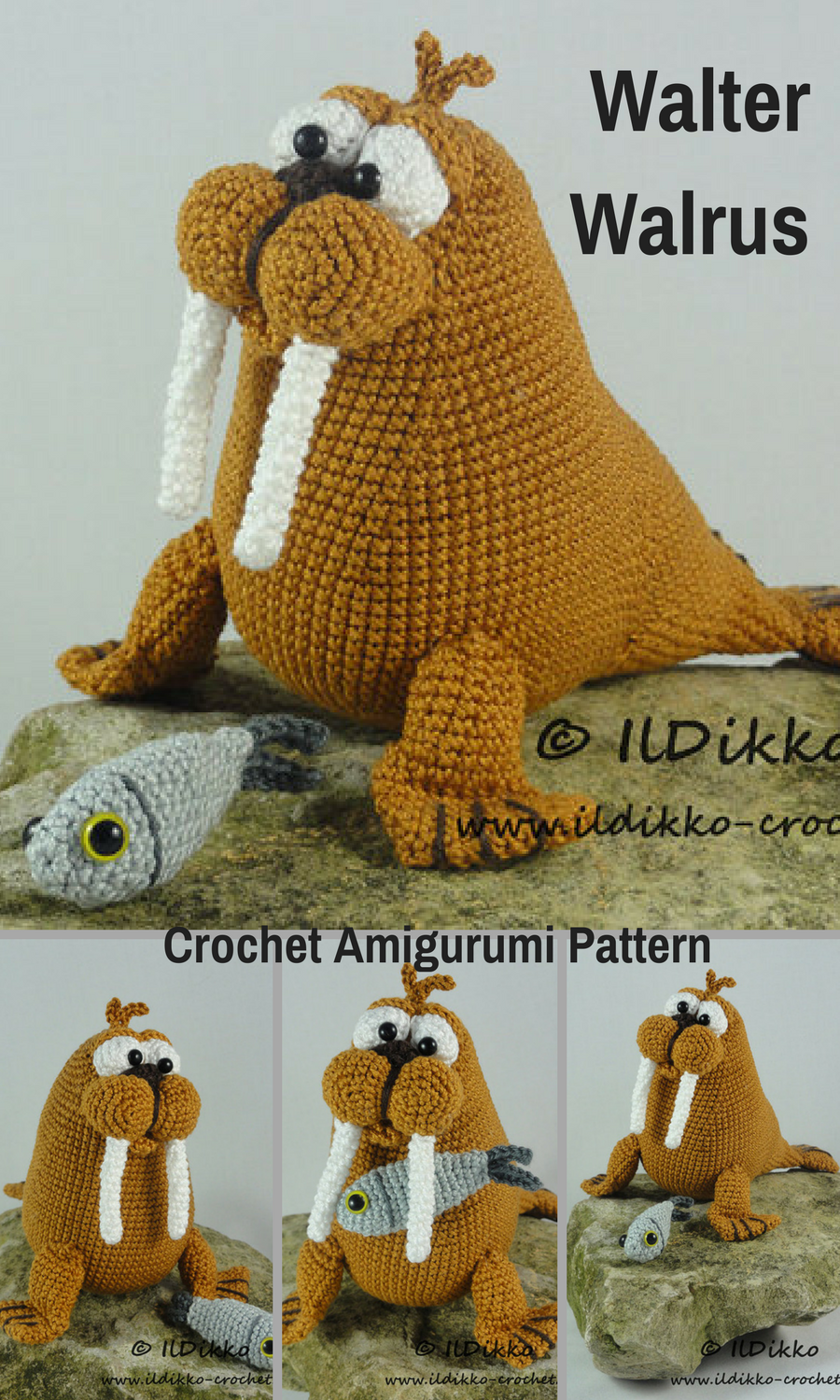 Walter The Walrus Is A Fun Crocheted Amigurumi Doll That Would Love