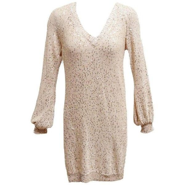 2cd51acc81 Preowned Stella Mccartney Blush Sweater Dress With Sequin... ( 600) ❤ liked