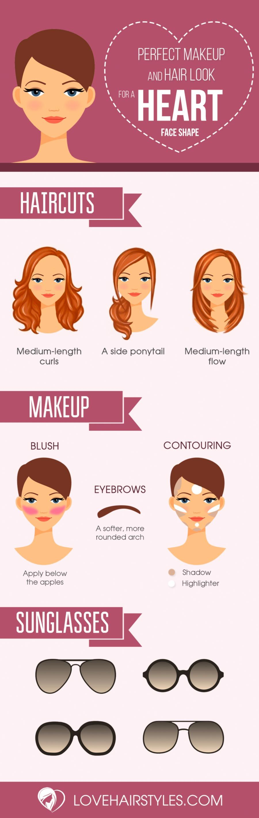 15 gorgeous haircuts for heart shaped faces | makeups | face