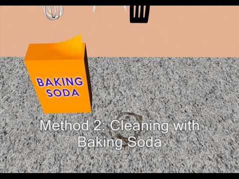 Granite Shorts S02e01 Removing Stains With A Homemade Poultice And Dupont Oil Stain Remov Remove Oil Stains How To Clean Granite Cleaning Granite Countertops