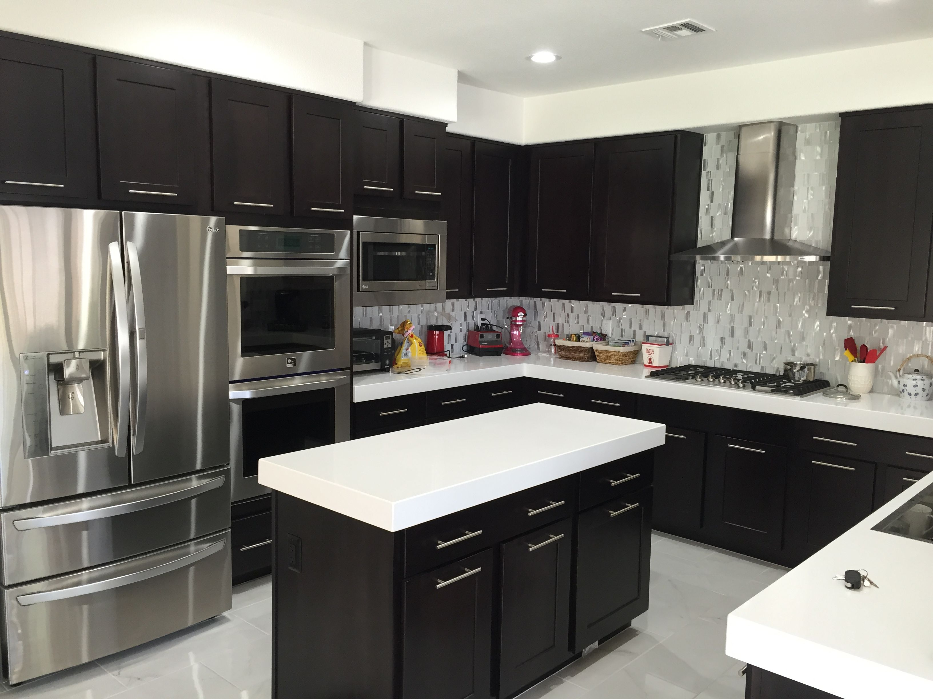 Striking Cabinetry Design And Countertops By Knippconstruction Black Kitchen Countertops Black Kitchen Cabinets Black Kitchens