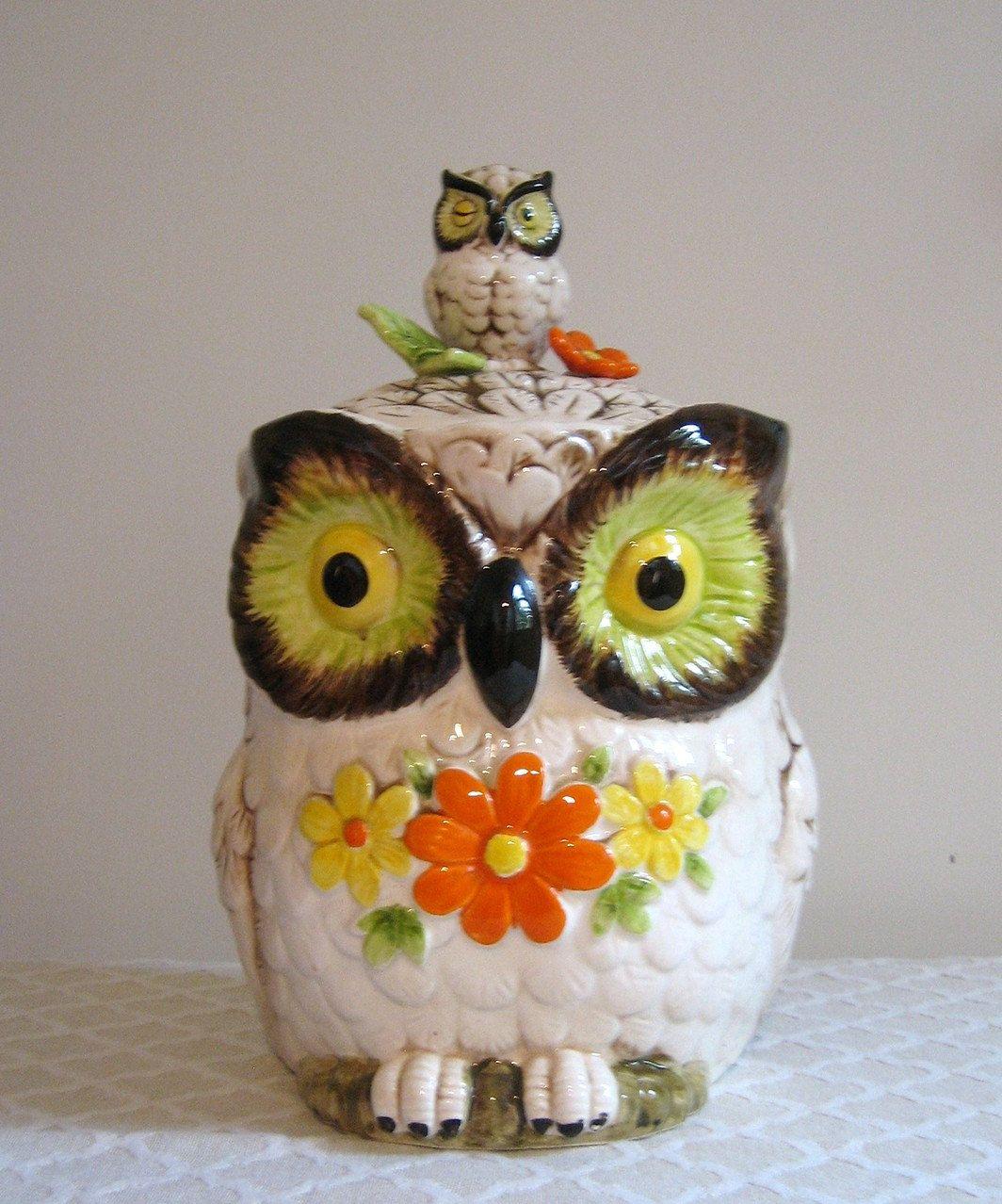 Retro Owl Cookie Jar