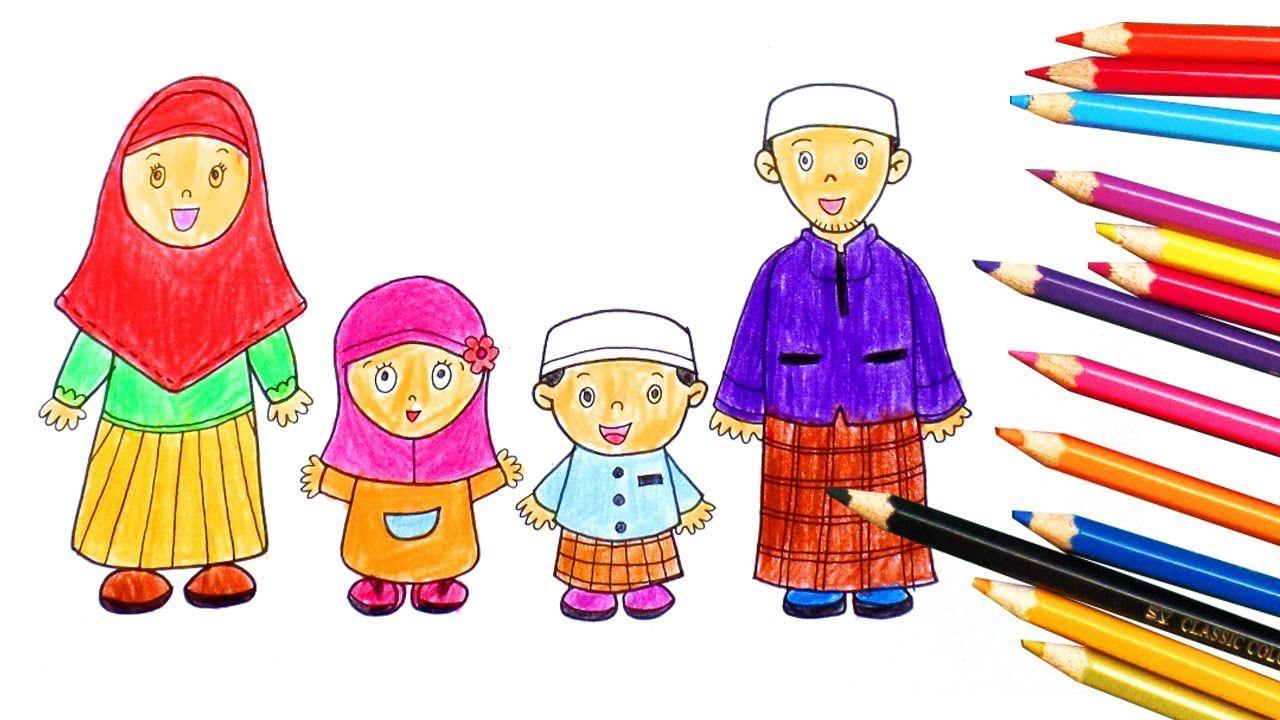 Kumpulan Gambar Kartun Keluarga Anak Tiga Himpun Kartun