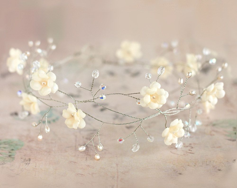 Bridal tiara wedding tiara wedding flower crown vine by ArsiArt, $63.00
