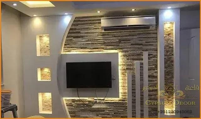 اسقف جبس بورد House Ceiling Design Modern Tv Wall Units Tv Wall Design