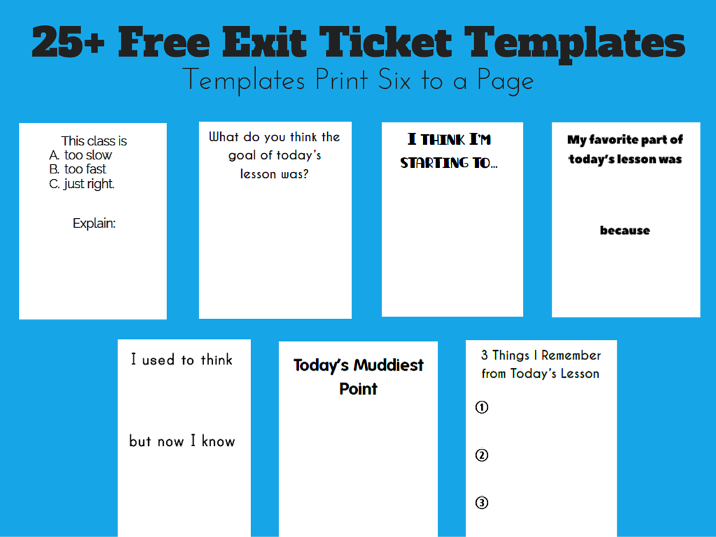 math love free exit ticket templates exit slips pinterest