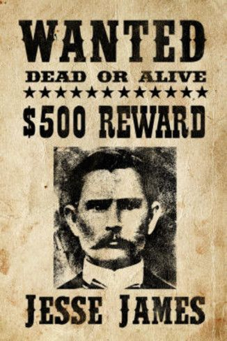 Jesse James Wanted Advertisement Print Poster Jesse james and - missing reward poster template