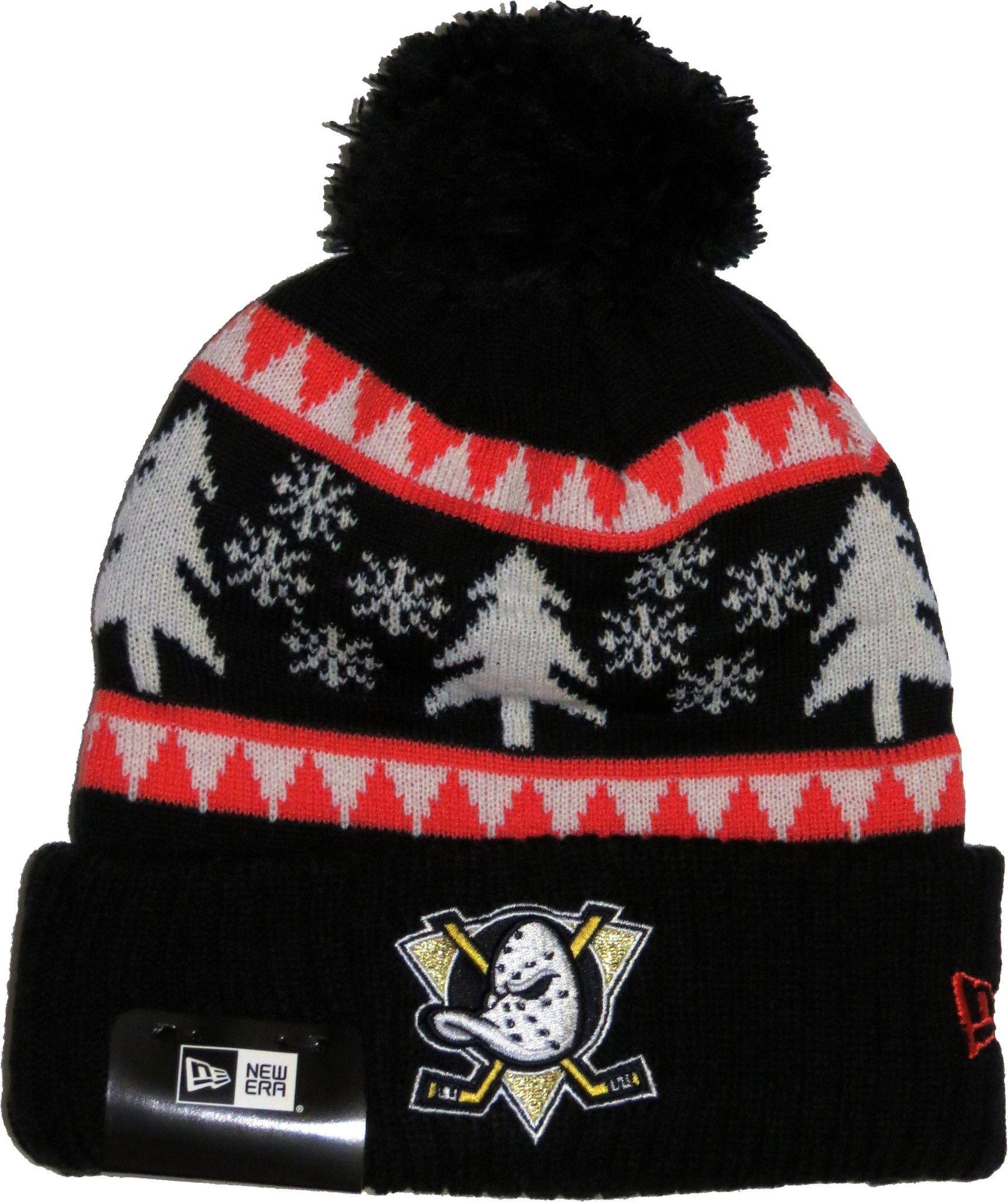 92de3ce4 Anaheim Mighty Ducks New Era NFL Team Snow Pine Bobble Hat   Winter ...