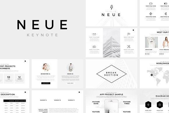 Neue Minimal Keynote Template By Slidepro On Creativemarket