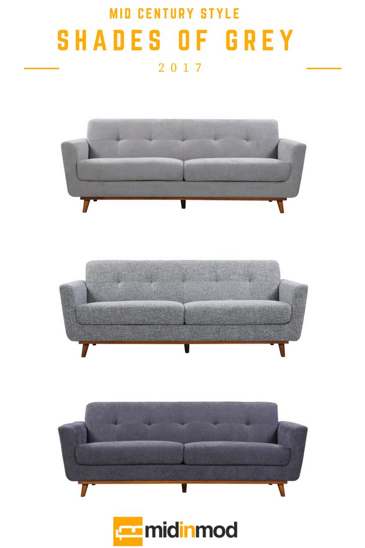 Grey Sofa Modern Sofas By Midinmod Furniture Houston