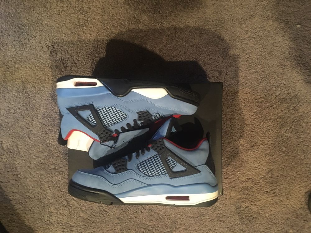 49821a6cf84d Travis Scott x Air Jordan 4 Retro  Cactus Jack  Size 9  fashion  clothing   shoes  accessories  mensshoes  athleticshoes (ebay link)