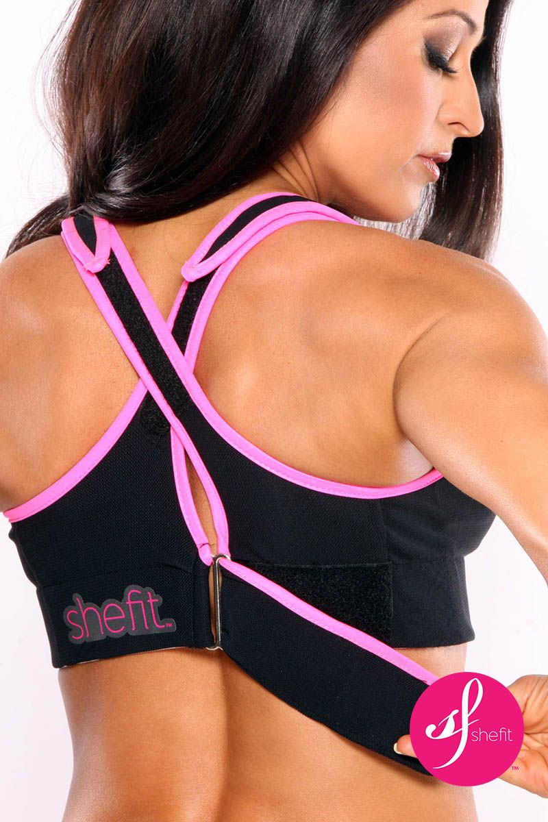 5b7f2f9cb4fab Say goodbye to painful breasts making your workouts and running more  enjoyable. Shefit high impact sports bra ...