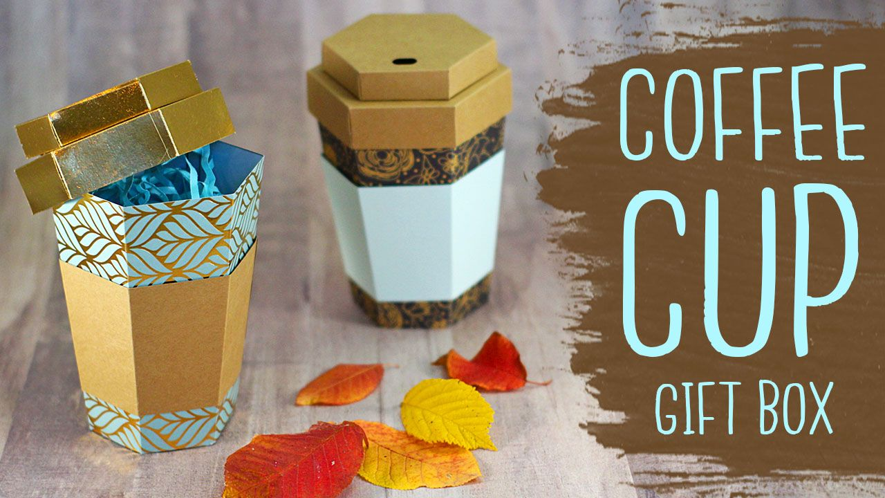 3D Coffee Cup Paper Gift Box Tutorial! (With images) Diy