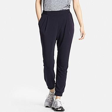 dbdde149b5513 WOMEN AIRism STRETCH ANKLE PANTS, NAVY | K | Pants, Ankle pants ...