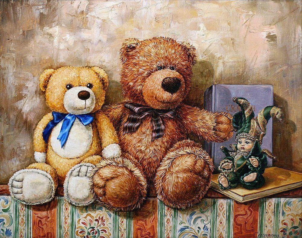 Пожелания добрым, красивые картинки с медведями тедди