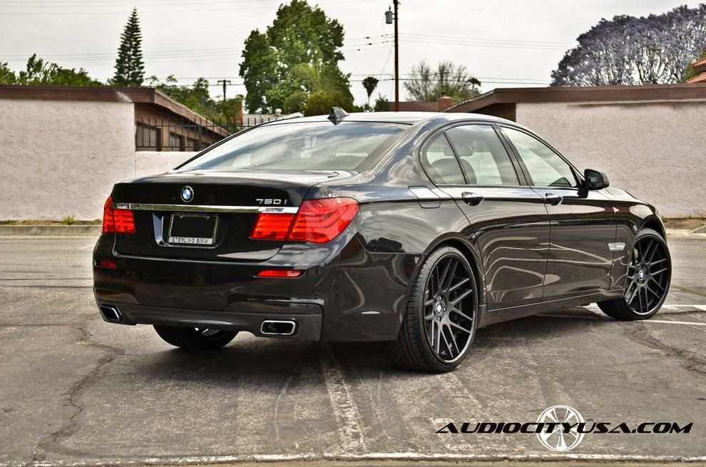 Black BMW I With Matte Black And Gloss Black Lip Gianelle - 2011 bmw rims