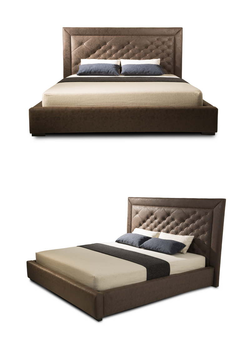China Supplier Pattern Micro Fiber Headboard Modern Bed Bed