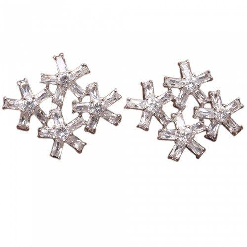 Beautiful Four Stars Design Stud Earrings | favwish - Jewelry on ArtFire