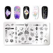 US $ 0.58 27% OFF | NICOLE DIARY Geometrische Nail Stamping Platten Floral Nail ... - #058 #27 #DIARY #Floral #Geometrische #Nail #NICOLE #Platten #Stamping