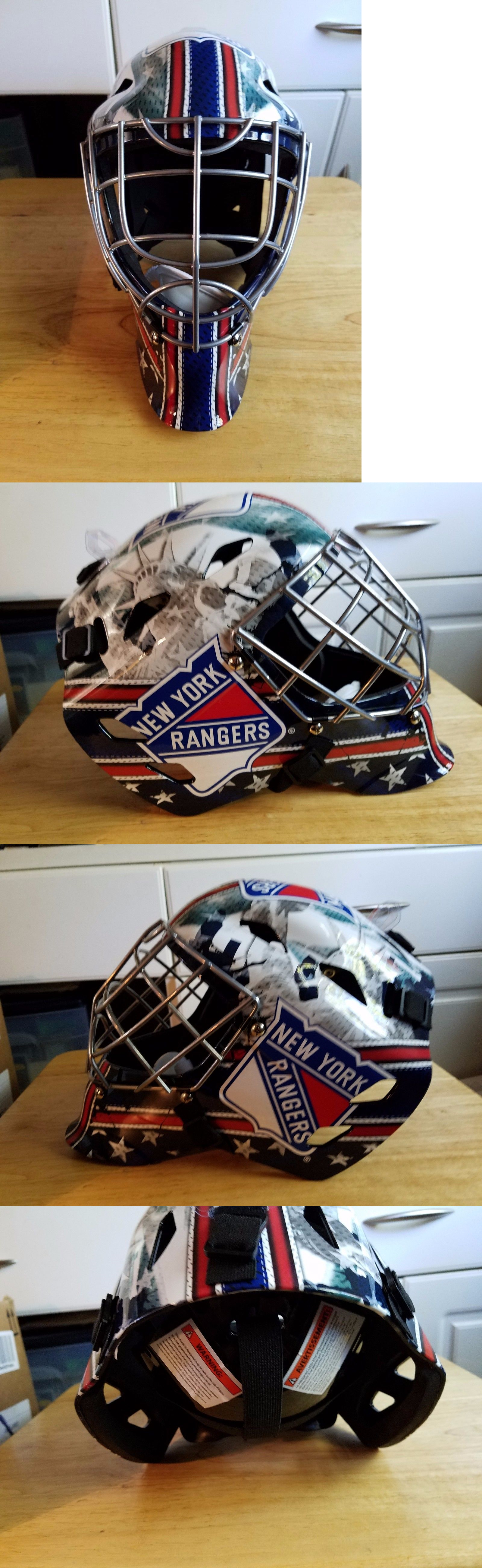 Face Masks 79762  Franklin Sports Gfm 1500 Nhl New York Rangers Goalie Fac  New -  BUY IT NOW ONLY   60.44 on eBay!  951f7869c