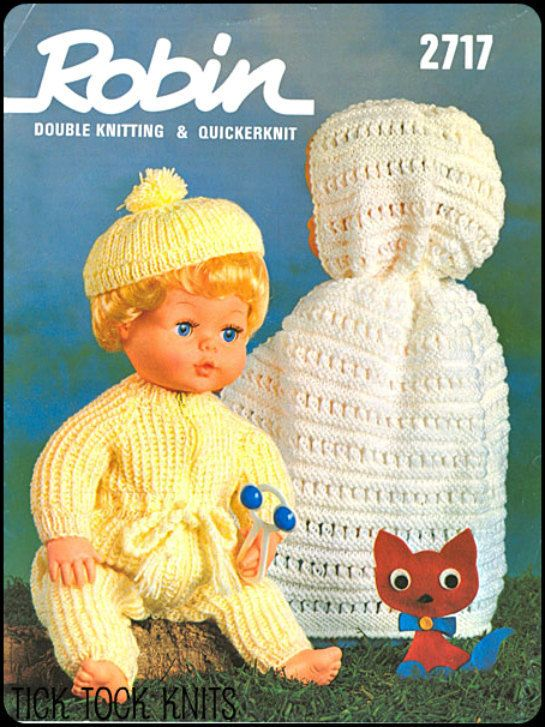 No 26 Pdf Vintage Knitting Pattern For 16 Quot Dolls Hooded