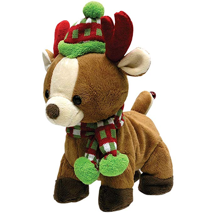 Amazon Com Cuddle Barn Rock And Roll Rider Dancing Christmas Reindeer Toys Games Christmas Dog Toy Christmas Plush Christmas Dog