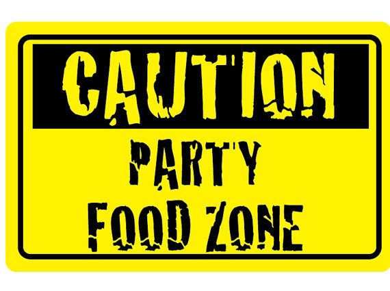 DIY Printable Caution Food Zone Sign by couturecrafts28 on Etsy