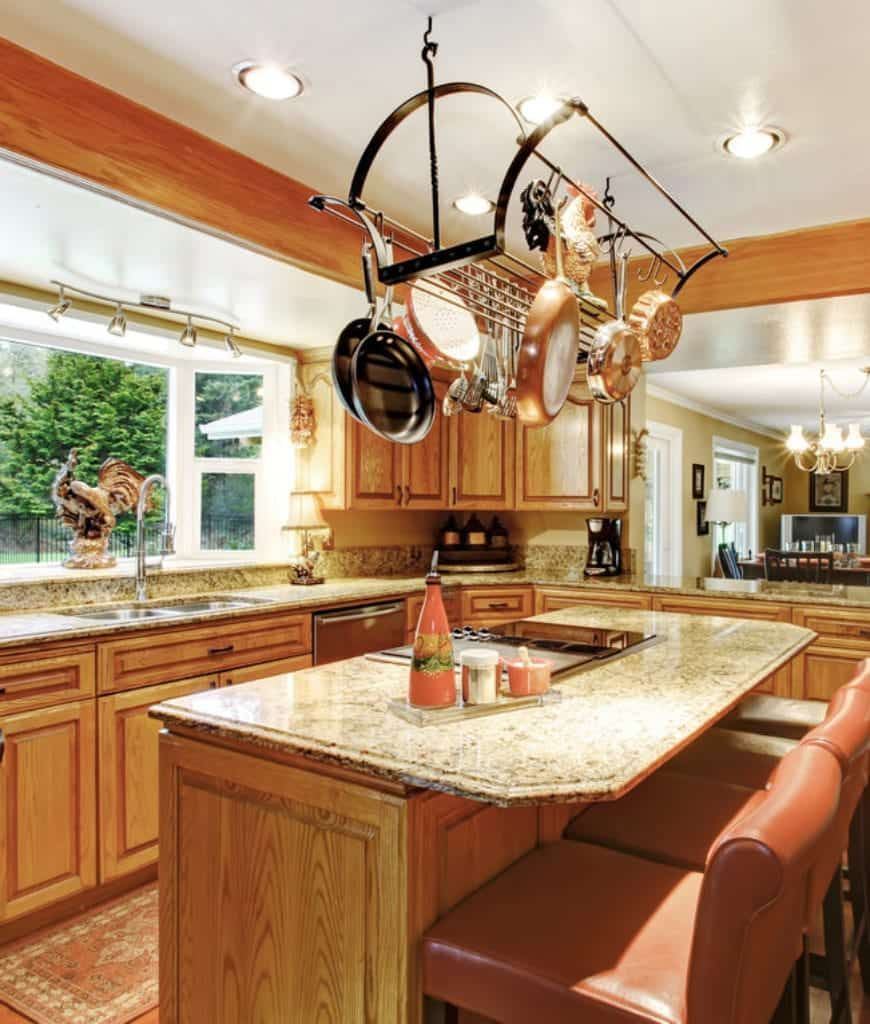 40 kitchens with hanging pot racks in 2020 best interior design apps interior design apps on kitchen remodel apps id=41464