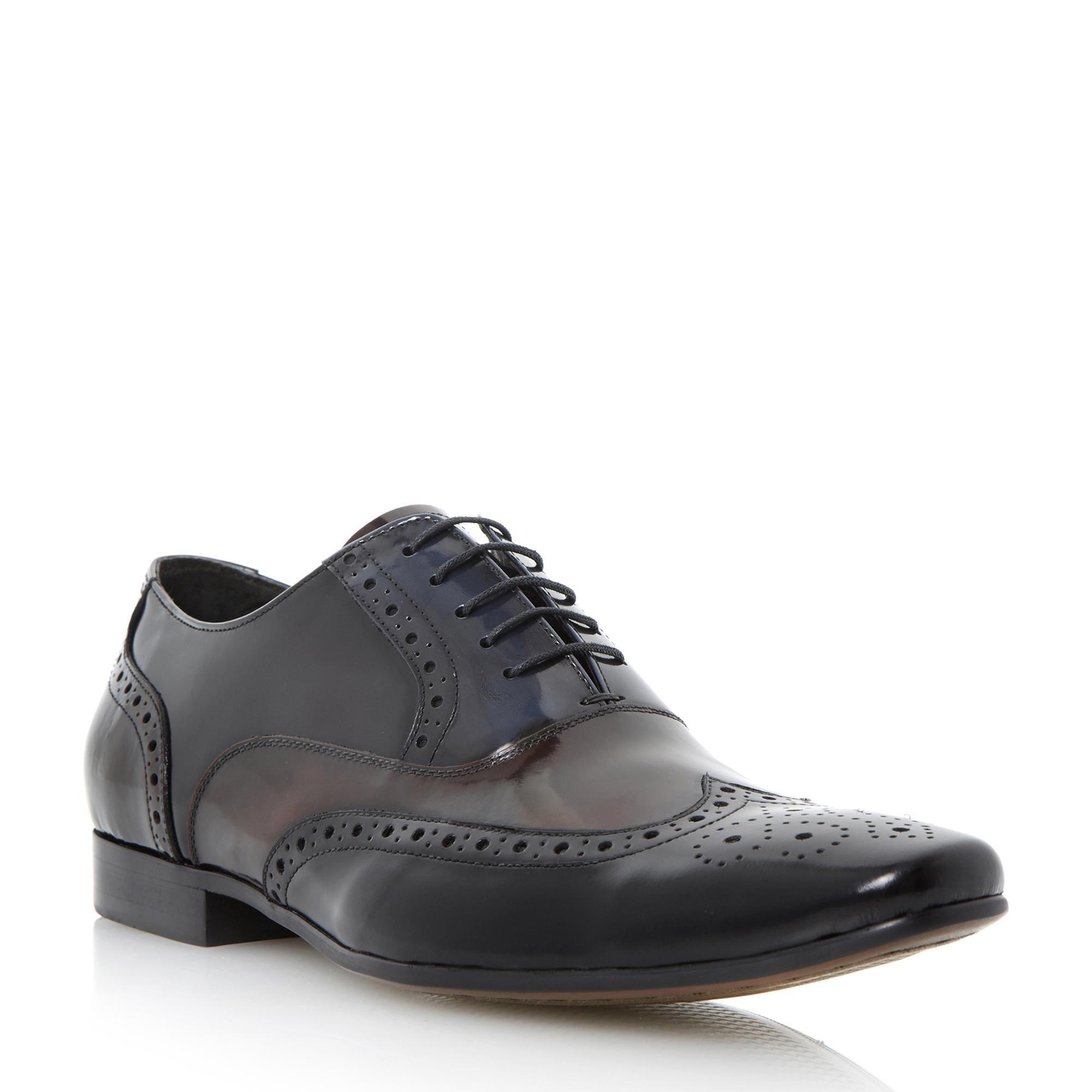 443856e858f8 DUNE MENS RAYMOND - Multi-Toned Polished Leather Brogue - multi | Dune Shoes  Online