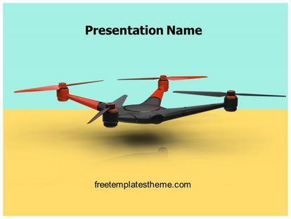 Download #free #Drone #Quadcopter #PowerPoint #Template for