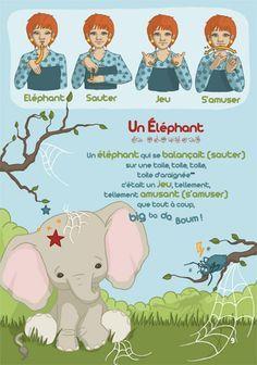 Un éléphant Qui Se Balançait Ass Mat Comptine