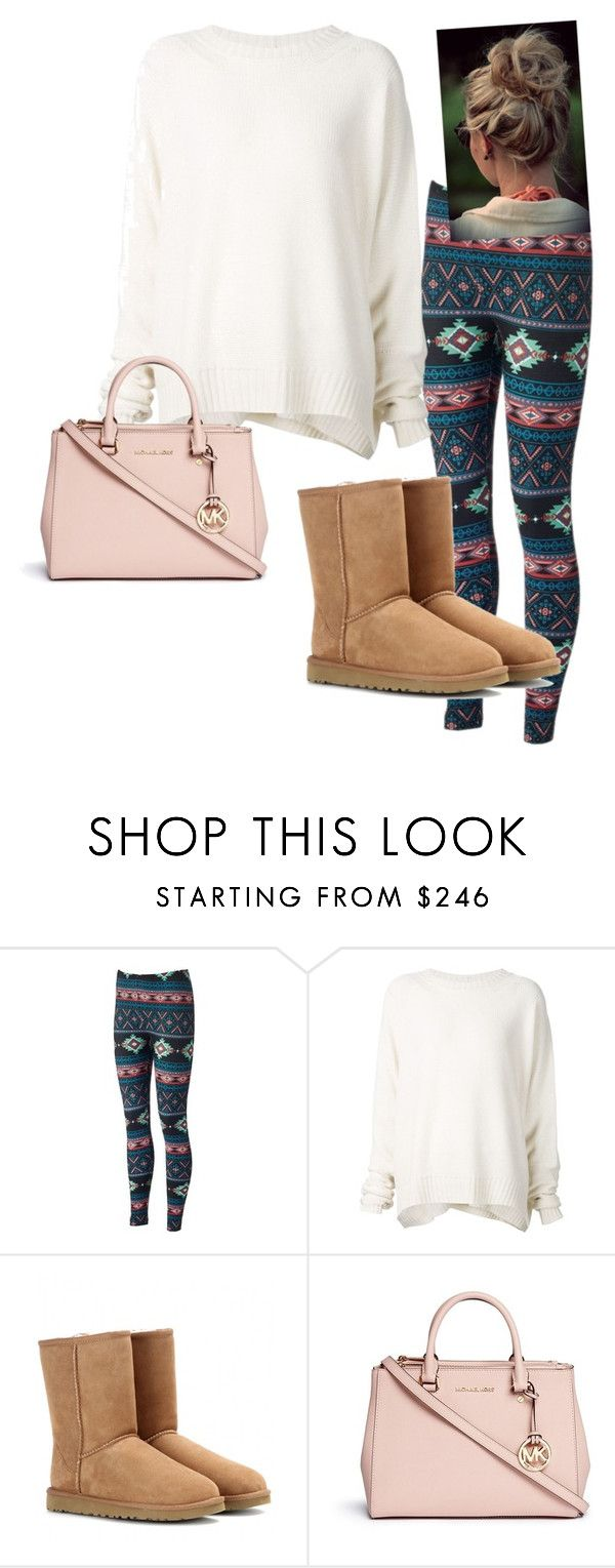 """""""Read d"""" by laxsoccerlover36 ❤ liked on Polyvore featuring URBAN ZEN, UGG Australia, Michael Kors, women's clothing, women's fashion, women, female, woman, misses and juniors"""