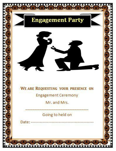 Engagement Ceremony invitation template Design Work Pinterest - invitation template word