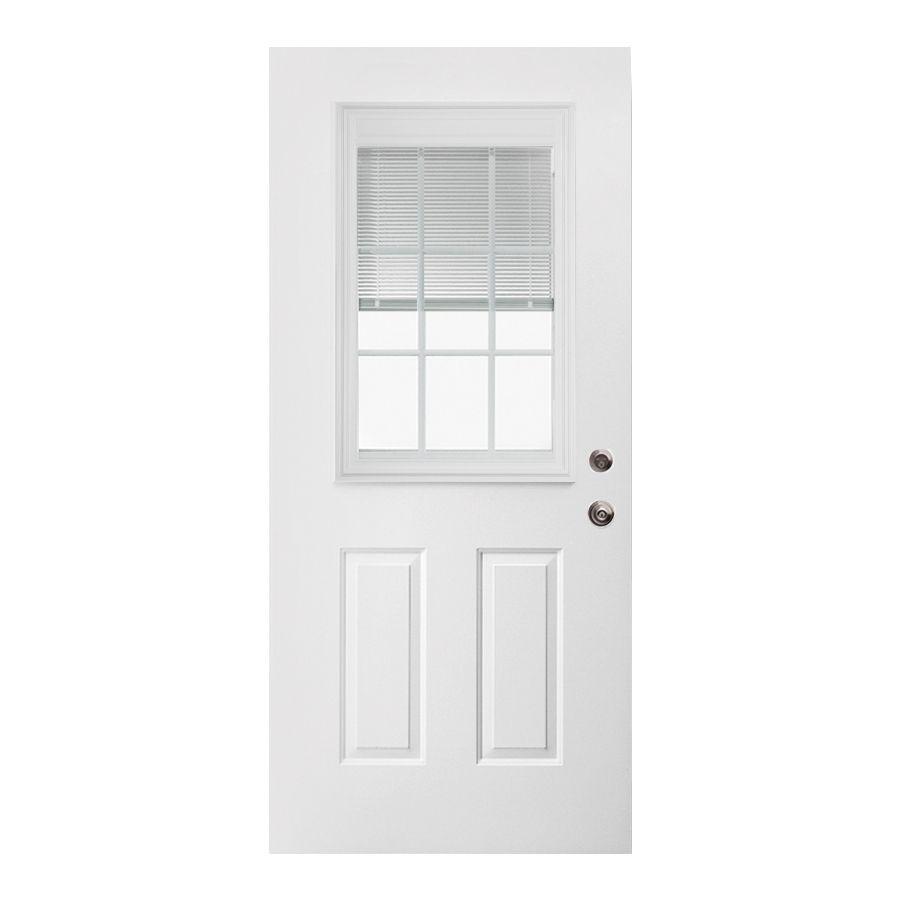 steel entry doors lowes. shop reliabilt 32-in x 80-in half lite inswing steel entry door at doors lowes