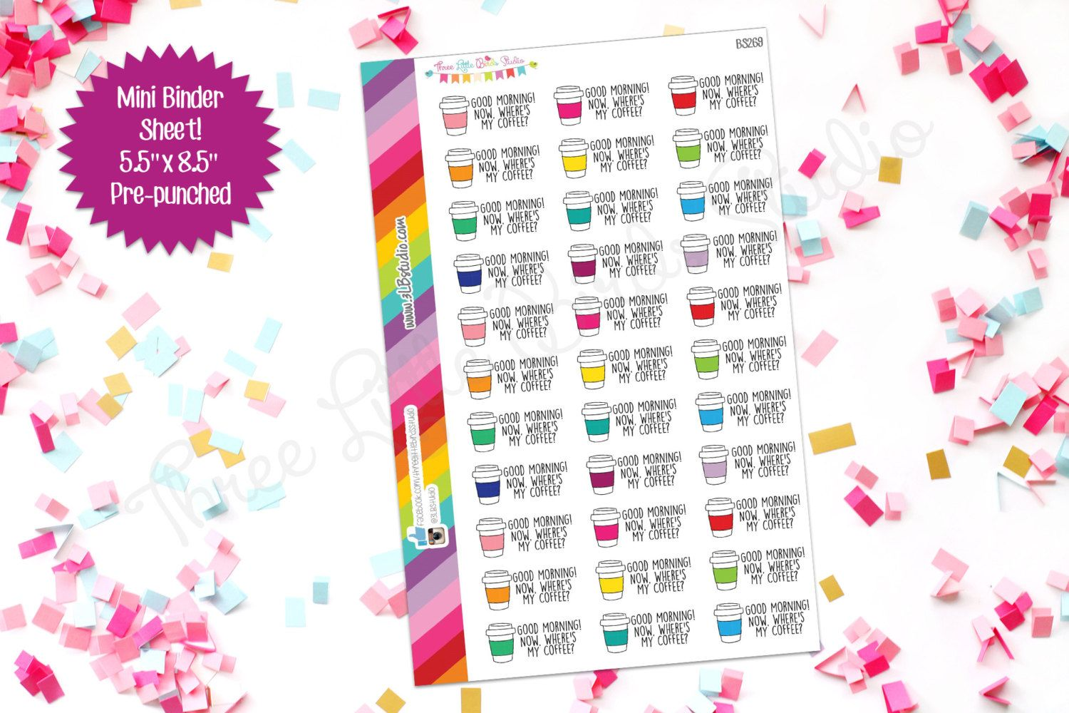 Where's My Coffee Planner Stickers! (BS269) For your Erin Condren, Happy Planner, or other planner by 3LBstudio on Etsy